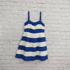Ann Taylor LOFT | Blue & White Stripe Summer Dress